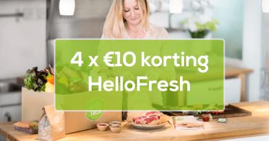 4 keer 10 euro korting hellofresh