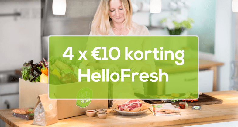 4 keer 10 = €40 korting HelloFresh - Maaltijdbox