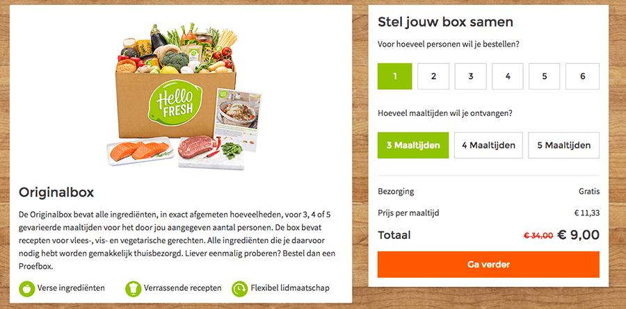 maaltijdbox vegetarisch