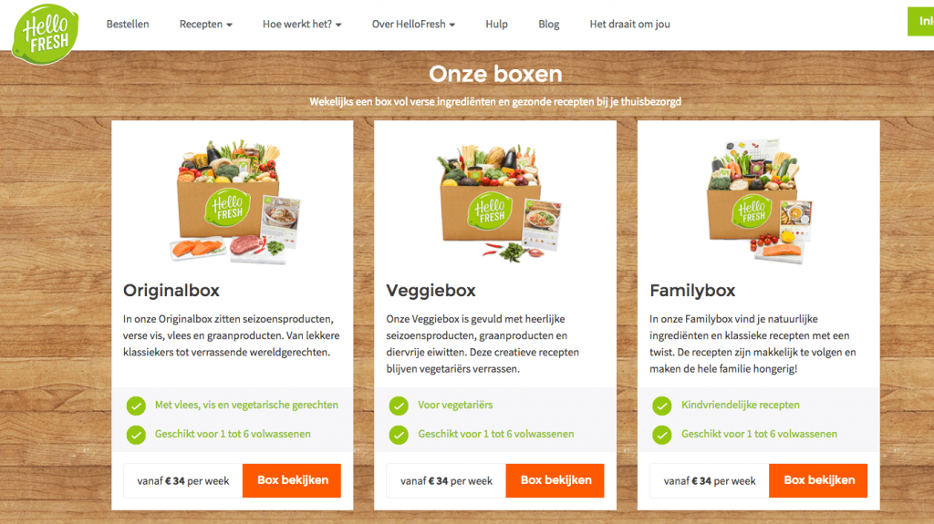 boxen van hellofresh