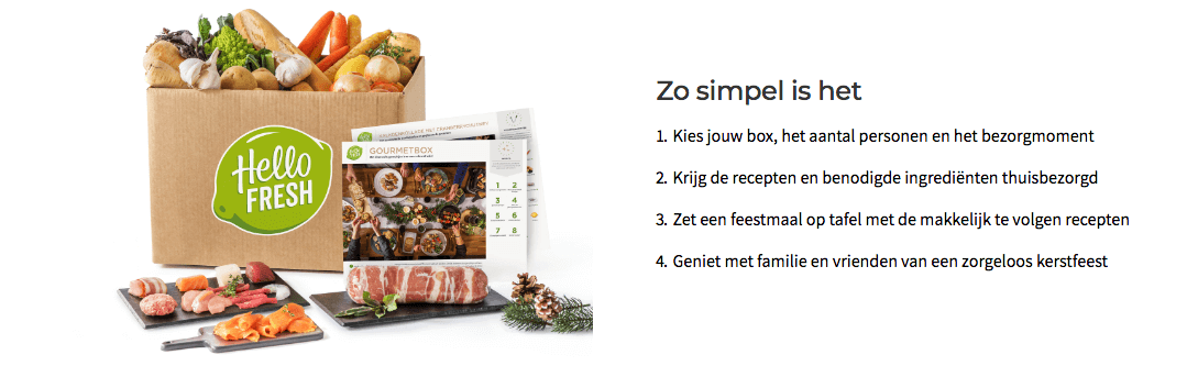 hellofresh kerstboxen 2018